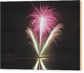 Fireworks At Cooks Wood Print