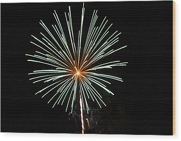 Fireworks Bursts Colors And Shapes 2 Wood Print by SC Heffner
