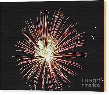 Wood Print featuring the digital art Fireworks By Aclay by Angelia Hodges Clay
