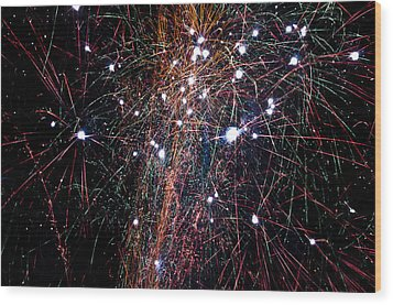 Fireworks Wood Print by David Isaacson