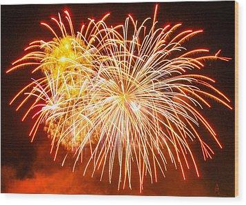 Wood Print featuring the photograph Fireworks Flower by Robert Hebert