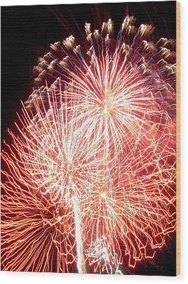 Fireworks Wood Print by Joseph Norniella