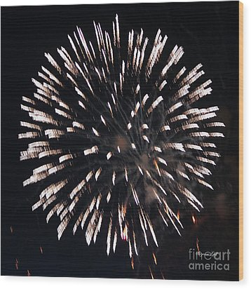 Fireworks Series X Wood Print by Suzanne Gaff