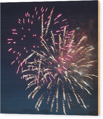 Fireworks Series Xiii Wood Print by Suzanne Gaff