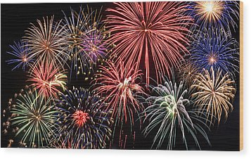 Fireworks Spectacular IIi Wood Print