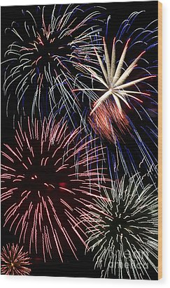 Fireworks Spectacular Wood Print by Jim and Emily Bush