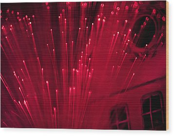 Fiber Optic Fireworks Wood Print