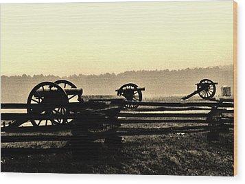 Firing Line Wood Print by Daniel Thompson