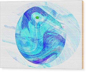Firmament Cracked #7 - Beautiful Illusion Wood Print by Mathilde Vhargon