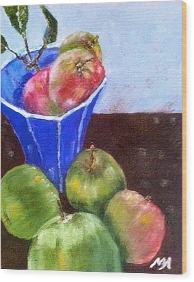 First Apples Wood Print by MaryAnne Ardito