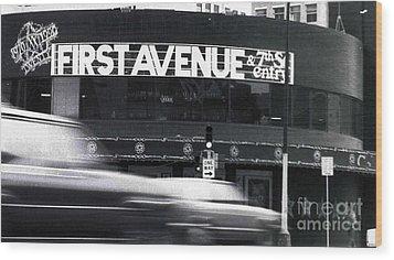 First Avenue Wood Print by Kip Krause