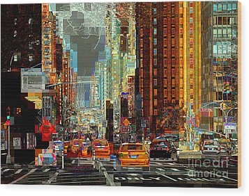 First Avenue - New York Ny Wood Print
