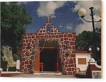First Catholic Church  Cozumel Wood Print