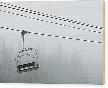 First Chair In The Storm Wood Print by Adam Pender