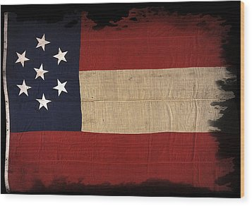 First Confederate Flag Wood Print by Daniel Hagerman