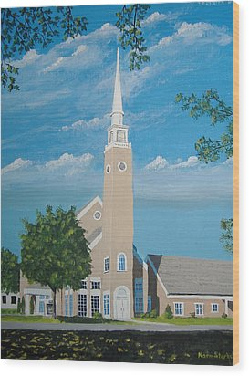 First Congregational Church Wood Print by Norm Starks