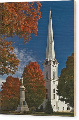 First Congregational Church Of Manchester Wood Print