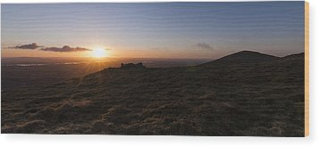 Wood Print featuring the photograph First Dawn by David Isaacson