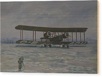 Wood Print featuring the painting First England-australia Flight 1919 by Murray McLeod