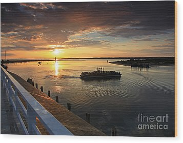 First Ferry To Chappaquidick Wood Print by Butch Lombardi