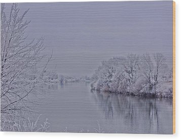Wood Print featuring the photograph First Frost by Lynn Hopwood