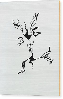 First Kiss Wood Print by Yelena Tylkina