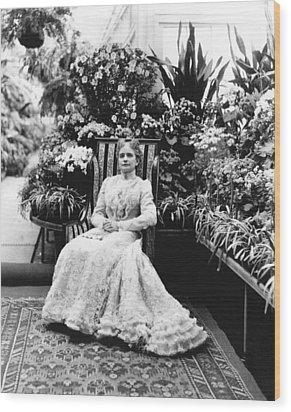First Lady Ida Mckinley Wood Print by Underwood Archives