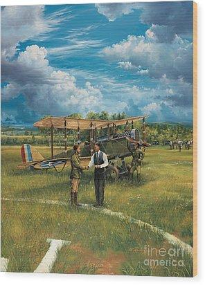 First Landing At Shepherd's Field Wood Print by Randy Green