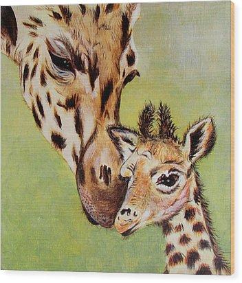 First Love Wood Print by Susan Duxter
