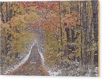 First Snow Wood Print by Alan L Graham
