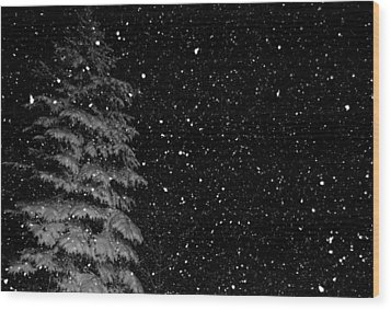 First Snow Wood Print by Denise Beverly