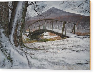 First Snow Of The Season Wood Print
