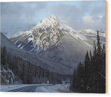 First Snowfall Wood Print by George Cousins