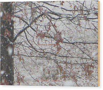First Snowfall  Wood Print by Sonali Gangane