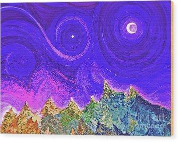 First Star Sunrise Wood Print by First Star Art