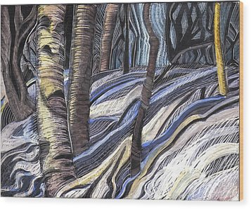 First Thaw Wood Print