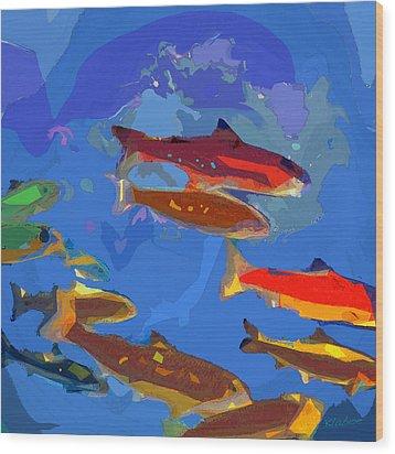 Fish 1 Wood Print by David Klaboe