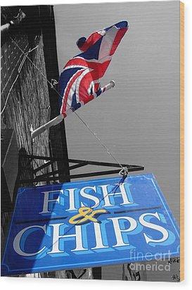 Fish And Chips Wood Print by Samantha Higgs