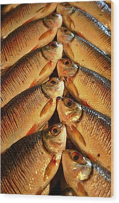 Wood Print featuring the photograph Fish For Sale by Henry Kowalski