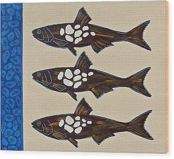 Fish Full Of Stones Wood Print