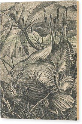 Fish Haven Wood Print