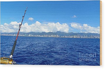 Fish Honolulu  Wood Print