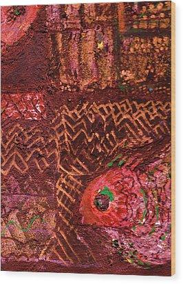 Fish In A Maze Of Nets Wood Print by Anne-Elizabeth Whiteway
