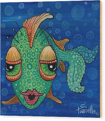 Fish Lips Wood Print