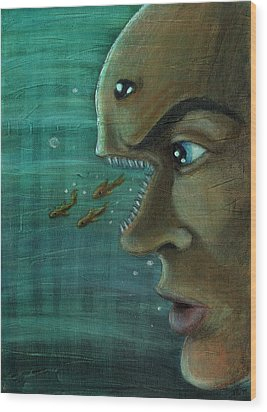 Fish Mind Wood Print
