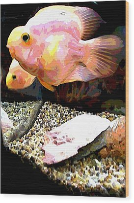 Fish Wood Print by Sarah E Kohara