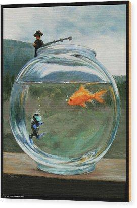 Fish Tale Wood Print