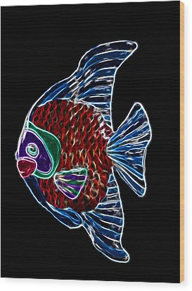 Fish Tales Wood Print by Shane Bechler