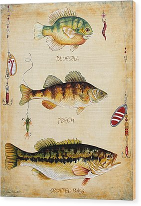 Fish Trio-c Wood Print by Jean Plout