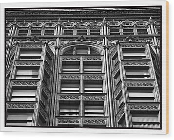 Fisher Building - 10.11.09_028 Wood Print by Paul Hasara
